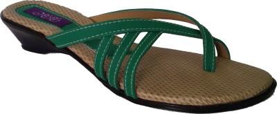 SBR Women Green Flats