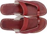 Paavdi Men Maroon Sandals