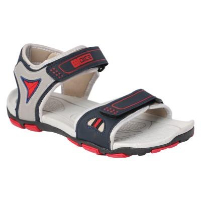 Dice Men Blue, Red Sandals
