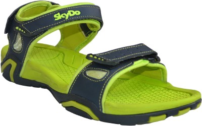 Skydo Men Green, Black Sandals