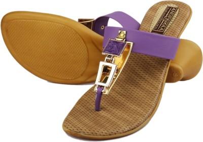 Anupamaa Purple Square Buckle Chappel Women Purple Heels