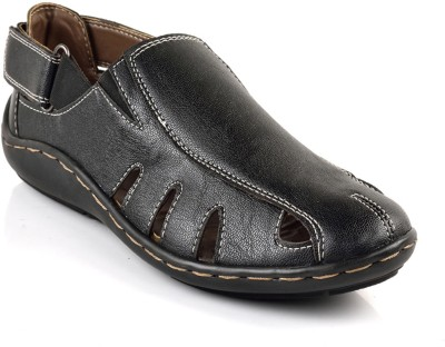 MulMony Men Black Sandals