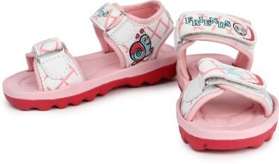 kidsfly Baby Girls, Baby Boys White, Pink Sandals
