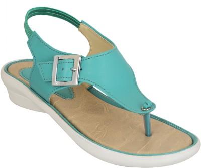 NE Shoes Women Green Flats