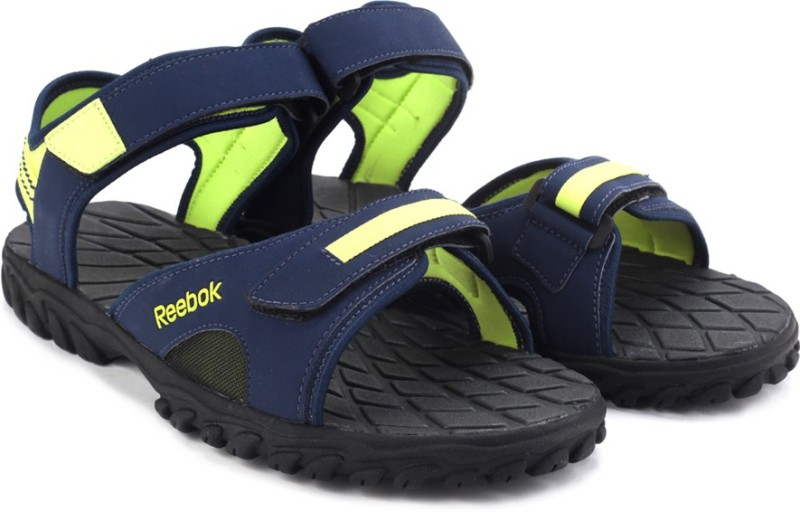 Reebok Men Navy Yellow Sports Sandals SNDEJEH78YYYCKRX