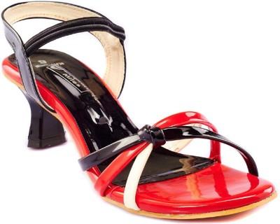 Dolphin Miles Women Black, Red Heels