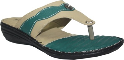 Supreme Leather Women Green Wedges