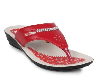 Fluid Pu Ladies Women Red Flats