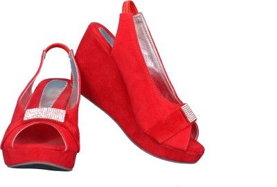 Cozy Women Red Wedges