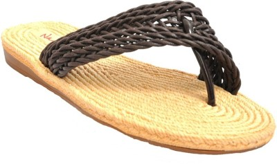Naysaa Women Brown Flats