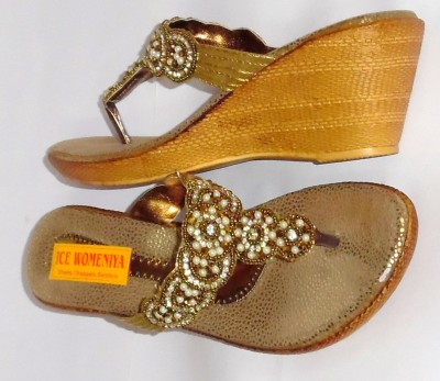 Ice Womeniya Women Tan Wedges
