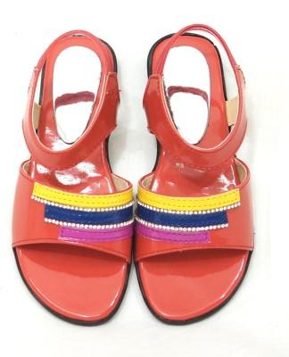 Royal Indian Exposures Baby Girls Orange Sandals
