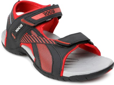 Welcome Men Black, Red Sandals