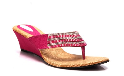 Laila Collections 514000pkw Women Pink Wedges