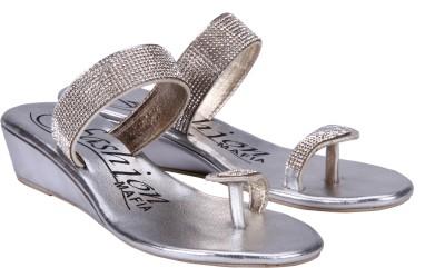 Fashion Mafia Women Silver Wedges