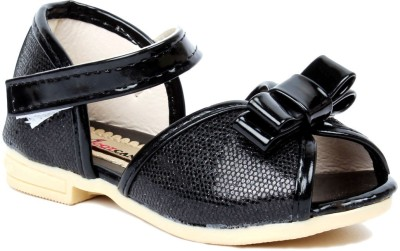 Foot Candy Baby Girls Black Sandals