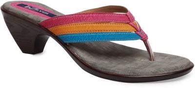 La Zilver Women Pink, Orange, Blue Heels