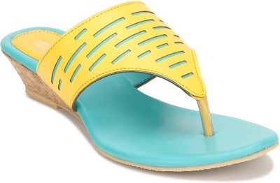 Yepme Women Yellow, Blue Heels