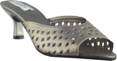 Faith Slip on Women Grey Heels