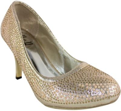 Heels & Handles Women Gold Heels