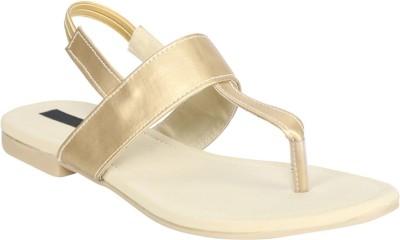 Fashionwalk Women Gold Flats