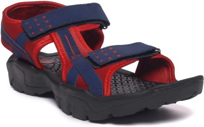 M&H Men Blue, Red Sandals
