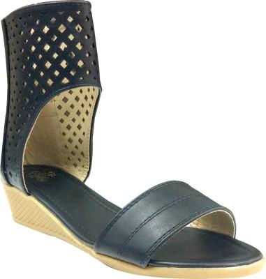 destilo Girls Black Sandals