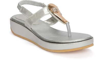 Fadrin Women Silver, Silver Heels