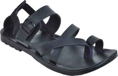 Domestiq Men Black, Grey Sandals