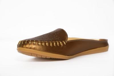 Paglee Women Gold Sandals