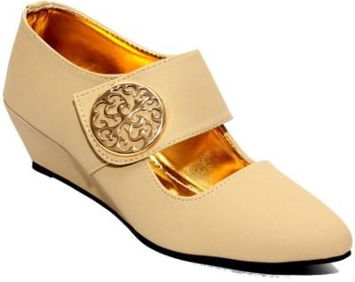 Stylish Step Women Tan Wedges
