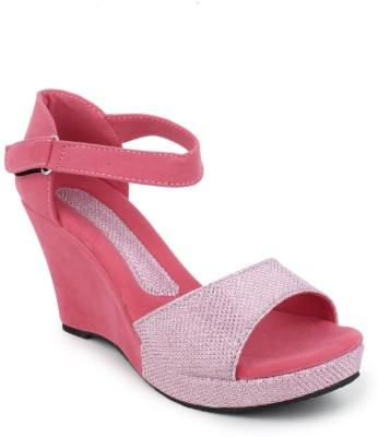 Hansx Women Pink Wedges