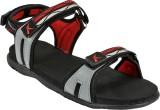 Kraasa Men Black::Red Sandals
