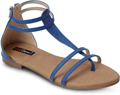 Get Glamr Women Blue Flats