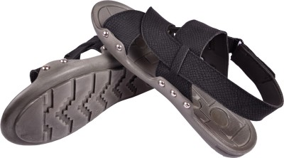 babatoes Boys Black Sandals