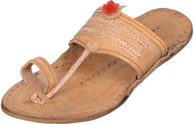 Kolapuri Centre Men Tan Sandals