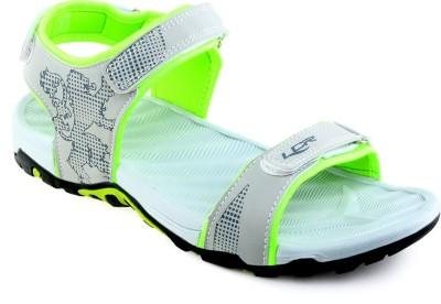 Lancer Men Grey, Green Sports Sandals