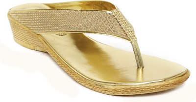 Foot Jewel Women Gold Wedges