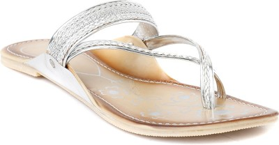 Foot Jewel Women Silver Flats