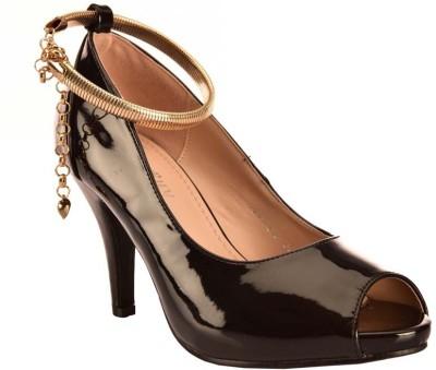 Ronnie Grey Women Black Heels