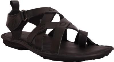 Mardi Gras Men Black Sandals