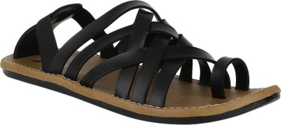 Achlis Men Black Sandals