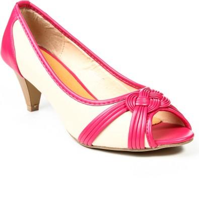 Jove Women Pink, Beige Heels