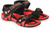 Corpus Men Black::Red Sandals