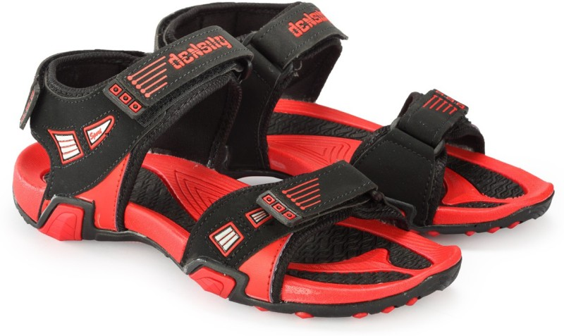 Corpus Men Black Red Sandals