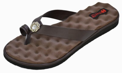 Health Line Mcp Women Brown Flats
