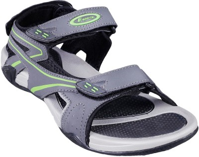 F sports Men Grey, Yellow Sandals