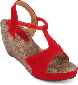 Bell One Women Red Wedges