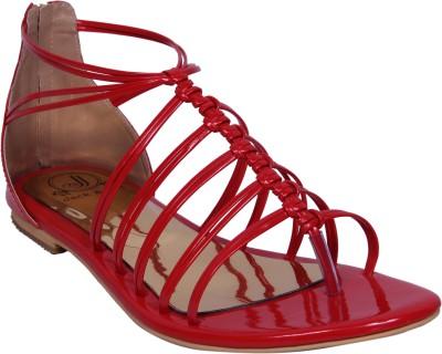Jack & Jill Women Red Flats
