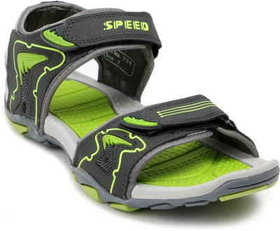 Speed Men Grey, Green Sandals